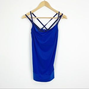 Lucy Feel the Beat 2-in-1 Blue Workout Tank